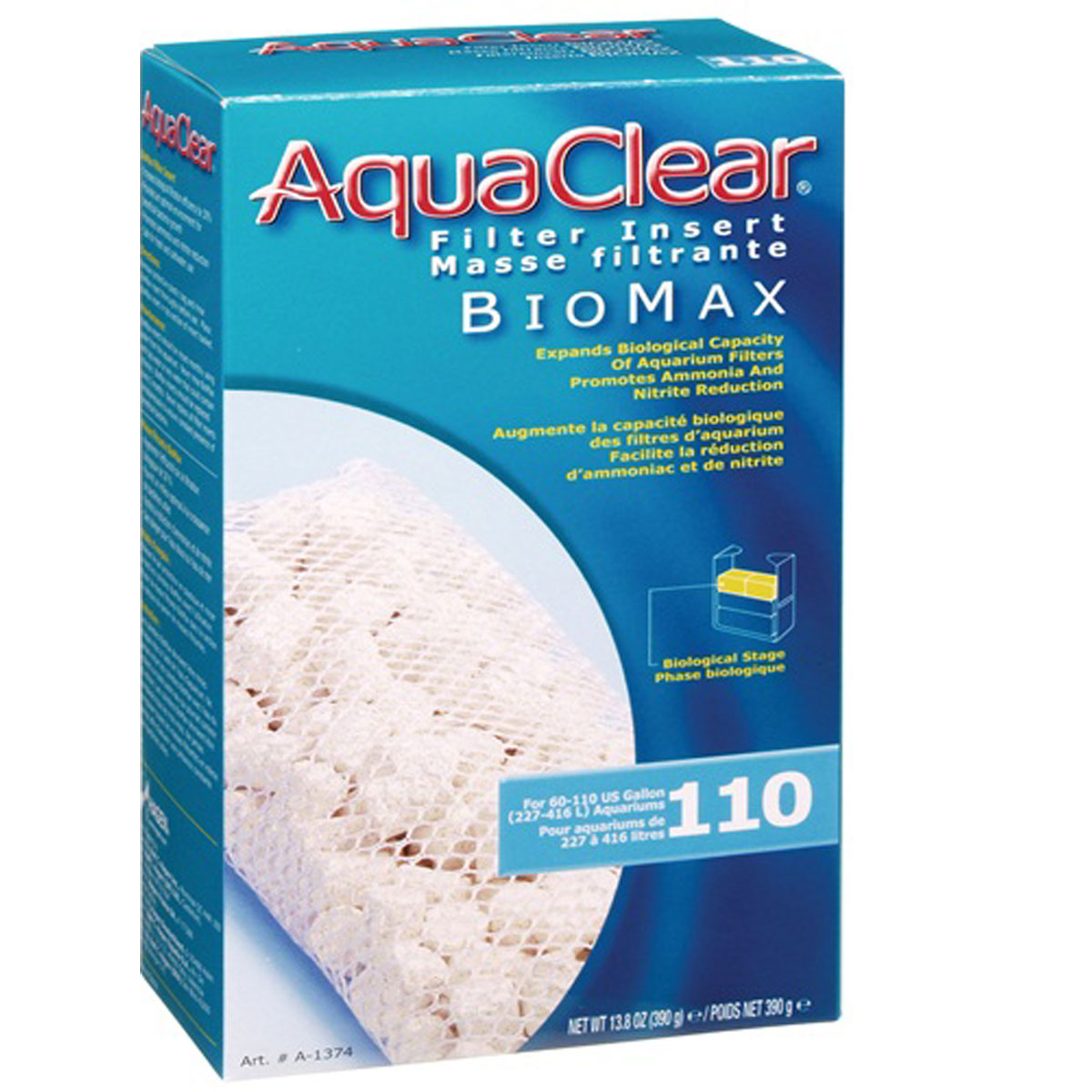 AQUACLEAR 110 REPUESTO BIOMAX 390 G.