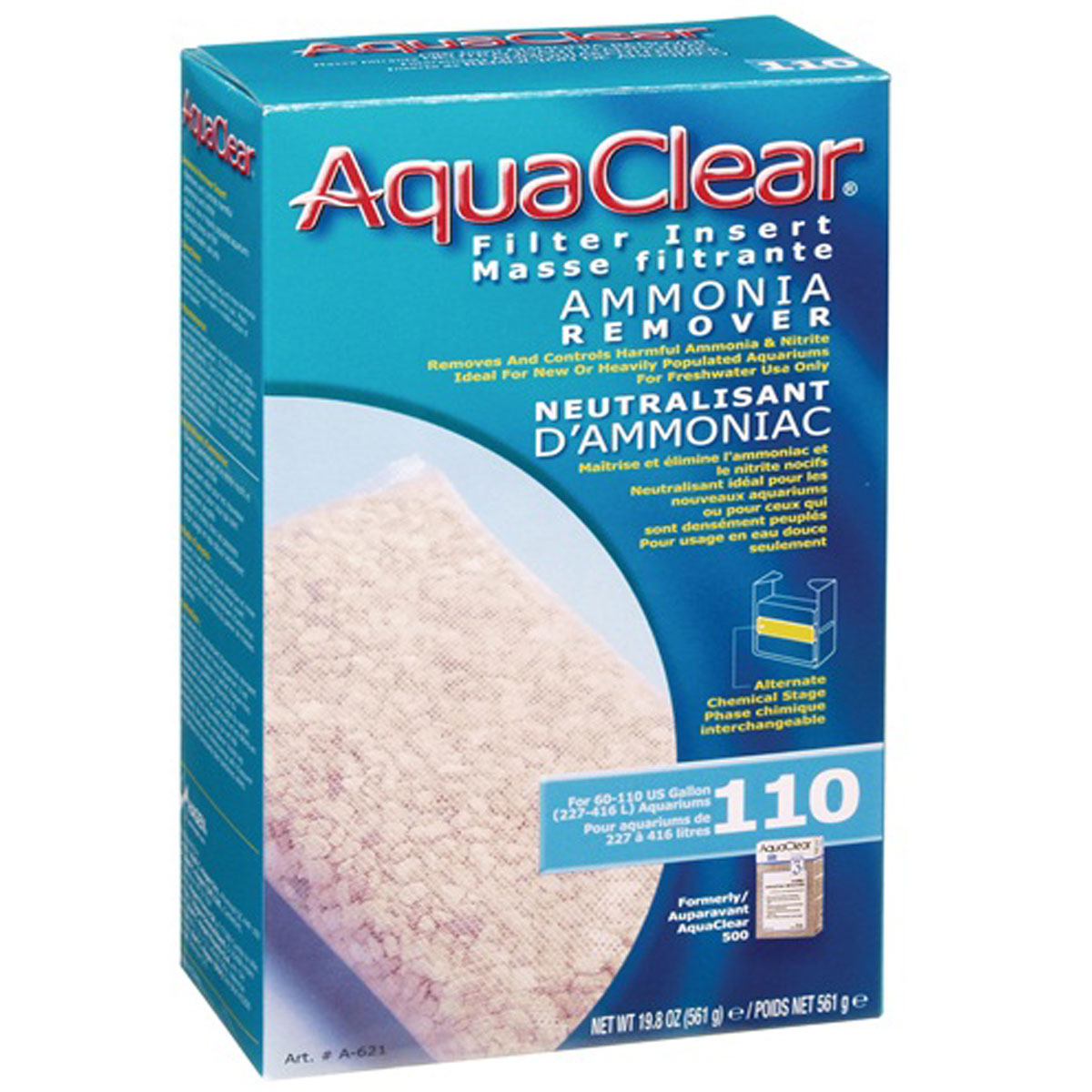 AQUACLEAR 110 REPUESTO AMONIA 561 G.