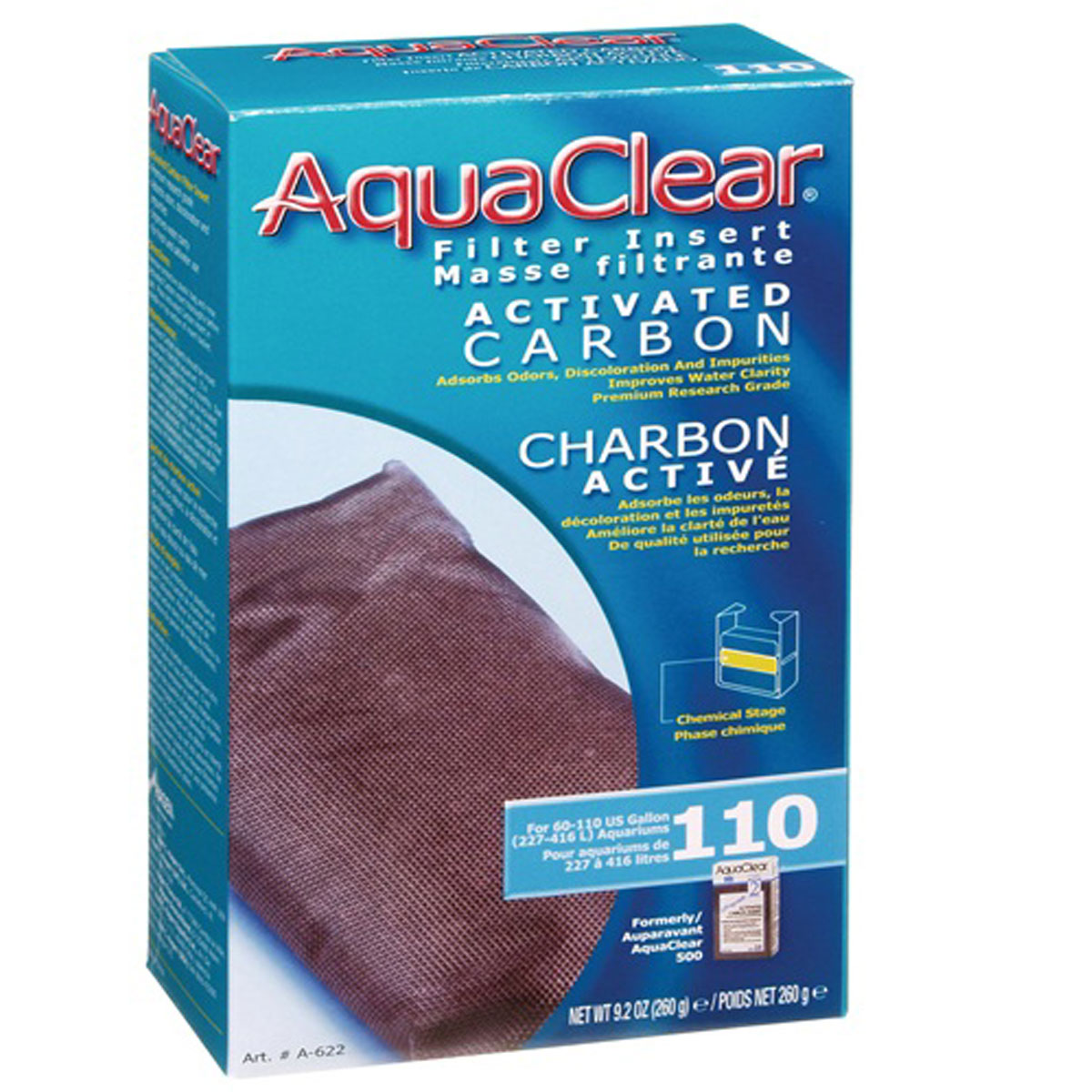 AQUACLEAR 110 REPUESTO CARBON 260 G